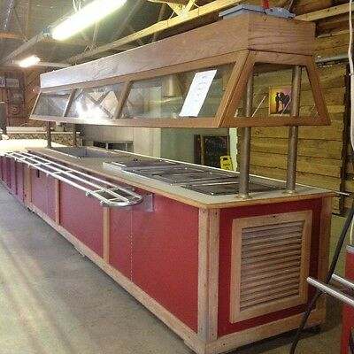 Buffet Steam Table / Refrig Salad Bar Combo Used Nice!