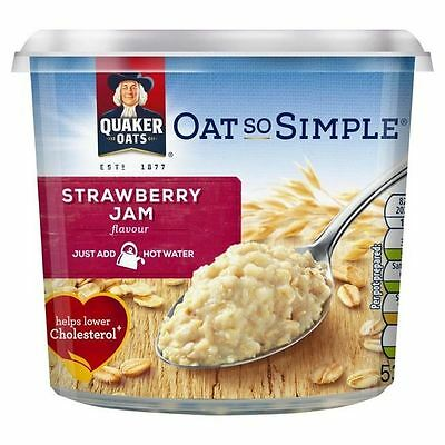 Quaker Oat So Simple Strawberry Jam Big Pot 53g