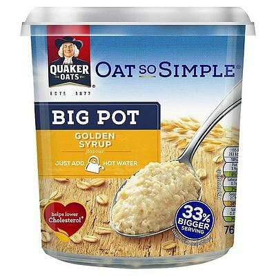 Quaker Oat So Simple Golden Syrup Big Pot 76g