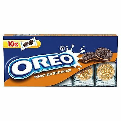 Oreo Peanut Butter Sandwich Biscuits Snack Packs 220g
