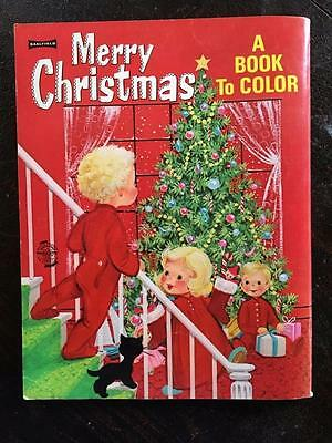 Vintage Saalfield Merry Christmas Coloring Book 9542 39 cents