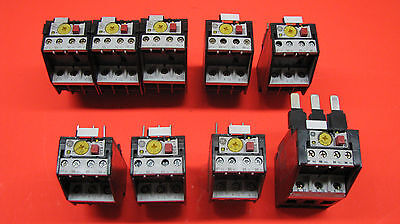 GE Overload relays: Various Sizes (Batch #2); New; One lot of 9 pieces