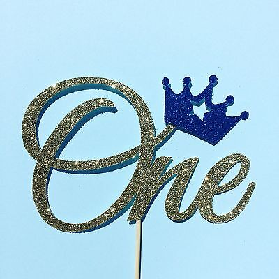 One Cake Topper, Crown Cake Topper, First Birthday Party Decor, Prince Party