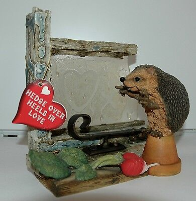COUNTRY ARTISTS HEDGIES ORNAMENT- STEAMY WINDOWS - Hand Painted and crafted