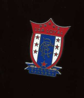 Glasgow Rangers Gers USA Supporters Club Pin Badge