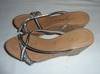 CIABATTE ZEPPA DONNA IN SUGHERO E CUOIO USATISSIME-N°38- Well Worn Slippers Lady