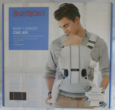 Babybjorn Baby Carrier One Air Cocoa Mesh New/unopened Box