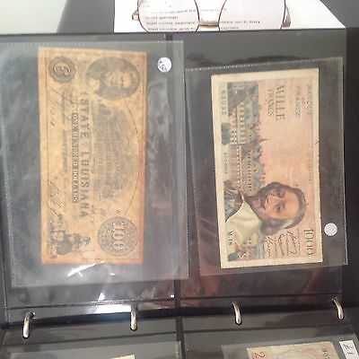 collection of old bank notes