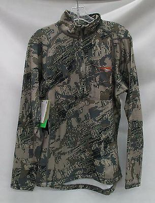 Sitka Gear Mens Core Midweight Crew LS Zip-T 10036 Open Country Size Extra Large