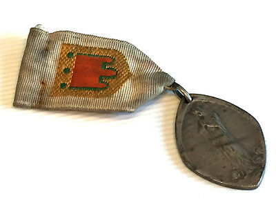 Scarce & VERY LARGE Antique Religious Medal Congregation of Immaculate w/ Ribbon