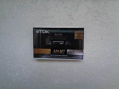 Vintage Audio Cassette TDK MA-XG 60 * Rare Europe Model 1990 *