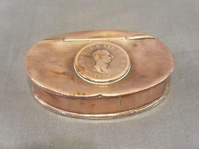 George III oval Copper Snuff Box BLA01698