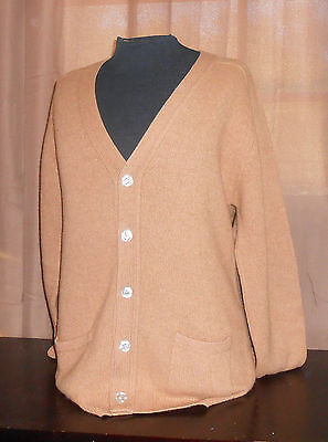 VTG 60s Byford/Hardy Amies - Camel Hair Cardigan Sweater -BeAtNiK/Professor 42