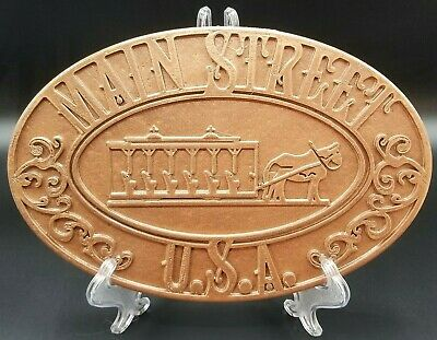 Main Street USA Trash Can Plaque / Sign - Copper Shade (Disney Inspired)