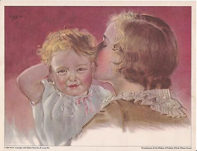 C 2889 A-8-30 . Copyright 1930 Ralston Purina Co. Print . Woman and Child