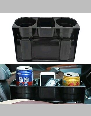 Car Seat Dual-Cup Drink Holder Universal Auto Truck Mount Bag Storage UK SELLER
