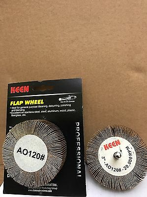 """Retail Pack of 2, #23034,Fine 120 grit, KEEN 3"""" x 1"""" x 1/4"""" Mounted Flap Wheel"""