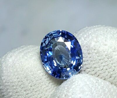 Unheated 2.73 Cts Certified Natural Beautiful Blue Sapphire Sri Lanka