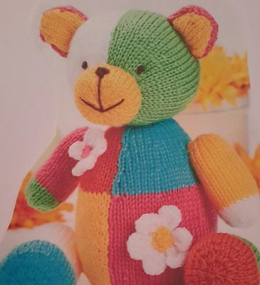 Cuddly Teddy Teddies & Cushion Knitting Pattern Dk Yarn King Cole 9017   ...