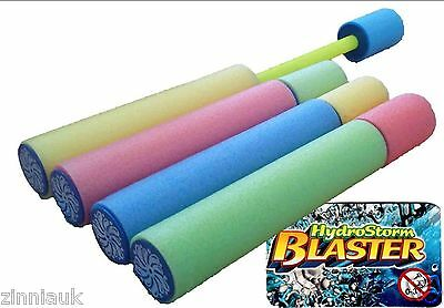 Set of 8 Foam Hydro Storm Water Blaster Pump Shooter Kids Toy Outdoor Summer Fun
