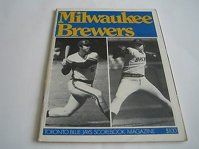 1977 Milwaukee Brewers/Toronto Blue Jays Inaugural Season Scorebook Magazine