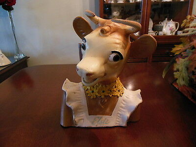 Vintage Rare Original Borden Elsie The Cow Bust Store Display