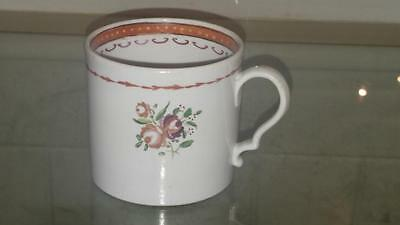 Georgian New Hall Famille Rose Pattern 241 Porcelain Coffee Can 1785+