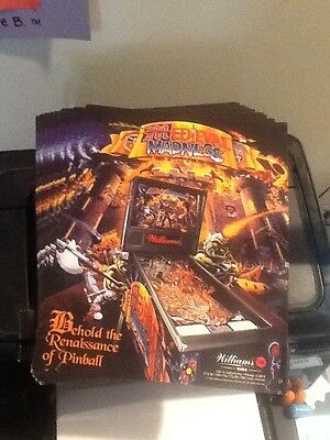 Williams MEDIEVAL MADNESS 1997 Original NOS Pinball Flyer free ship