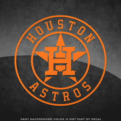 """Houston Astros Logo Vinyl Decal Sticker - 4"""" and Larger Sizes Available MLB"""