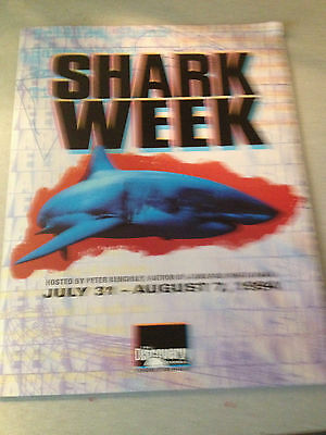 SHARK WEEK Studio Press Kit With Photos.  Folder and text included
