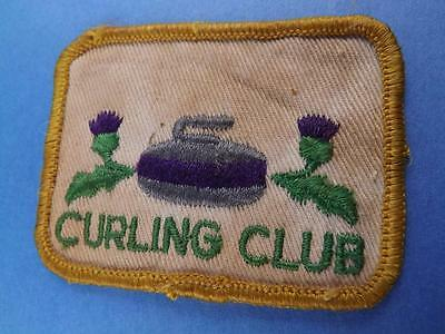 Purple Thistle Curling Club Patch Vintage Collector