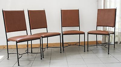 4 SEDIE MIDCENTURY DESIGN VINTAGE ANNI 60 70 MADE IN ITALY METAL ART bozzi rizzo