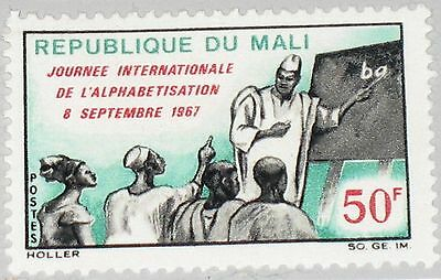 MALI 1967 154 102 Bekämpfung Analphabetismus Intl. Literacy Day Teacher MNH