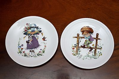 2 Purbeck Pottery Decorative Plate Of Colourful Little  Kids