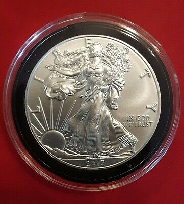 2017 1 oz US Silver Eagle  In Free Airtight Capsule