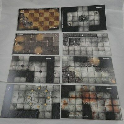Dungeons & Dragons D&D Eight Promo Dungeon Tiles Lot Wizards of the Coast (2003)
