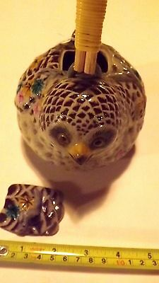 "Very Rare Banko Japanese Pottery Large Quail Teapot  6 ¼"" long by 4 ¾"" high Mint"
