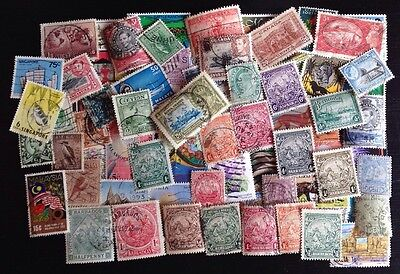 COMMONWEALTH (6) -Over 60 Used Stamps