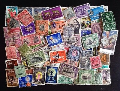 COMMONWEALTH (5) -Over 60 Used Stamps