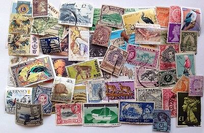 COMMONWEALTH (3) -Over 50 Used Stamps