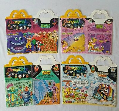 1988 McDonald's Happy Meal Box, Changeables, Complete Set of 4