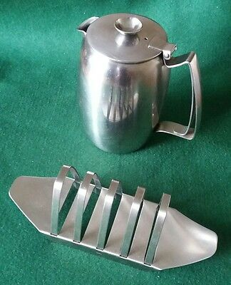 Vintage Old Hall 1pt pot and toast rack by Robert Welch - Rare