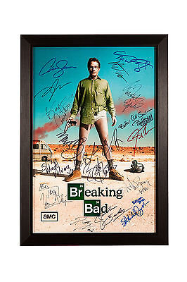 Breaking Bad Signed Photograph Featuring The Autographs Of 17 Cast And Crew Memb