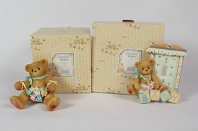 REDUCED Cherished Teddies - Baby room light switch plate & baby shelf sitter NEW