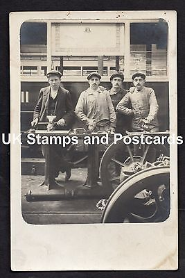 Unposted Card Showing Workmen In Tram Depot In Paris Circa 1913? See Scans