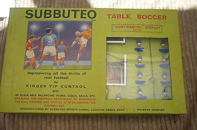 Vintage Subbuteo Continental Display Edition Original Box Table Soccer Game