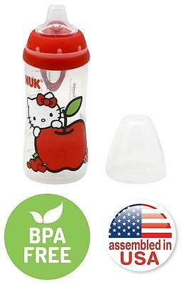 Nuk Hello Kitty Silicone Spout Active Sippy Cup 10Ounce Liquid Beverages Red