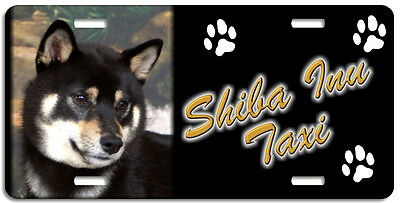 Shiba Inu tri Taxi Line License Plate (( LOW CLEARANCE PRICE ))