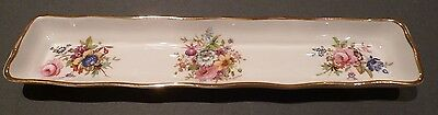 Hammersley Howard Sprays Mint Dish, Sweet / Nut Dish floral with gold trim