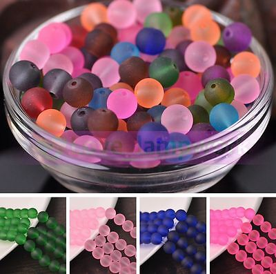 Wholesale 8mm Jelly Like Round Loose Spacer Glass Beads Lot Bulk Jewelry Making